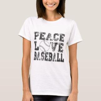 Peace, Love, Baseball Style 2 T-Shirt