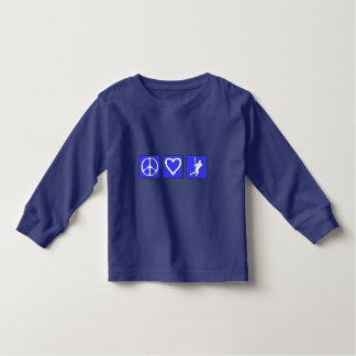 Peace Love Baseball Toddler T-shirt