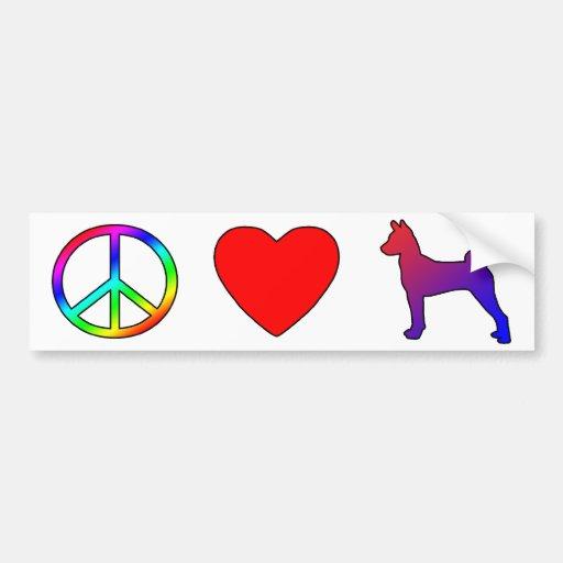 Peace Love Basenjis Bumper Stickers
