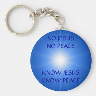 PEACE & LOVE BASIC ROUND BUTTON KEYCHAIN