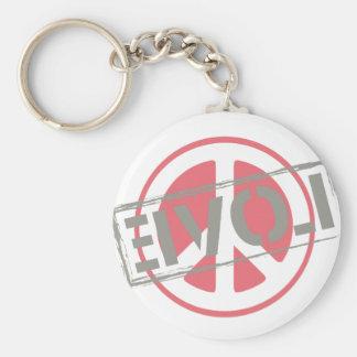 Peace Love Basic Round Button Keychain