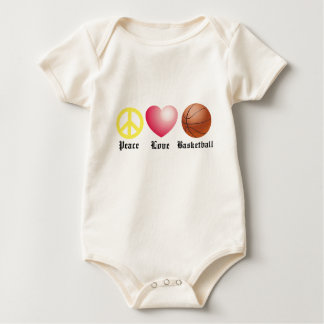 Peace, Love, Basketball Baby Bodysuit