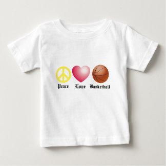 Peace, Love, Basketball Baby T-Shirt