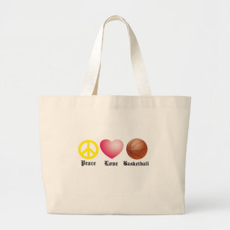 Peace, Love, Basketball Tote Bag