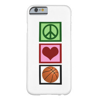Peace Love Basketball Barely There iPhone 6 Case