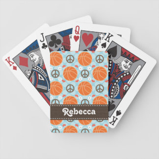 Peace Love Basketball Bicycle Playing Cards