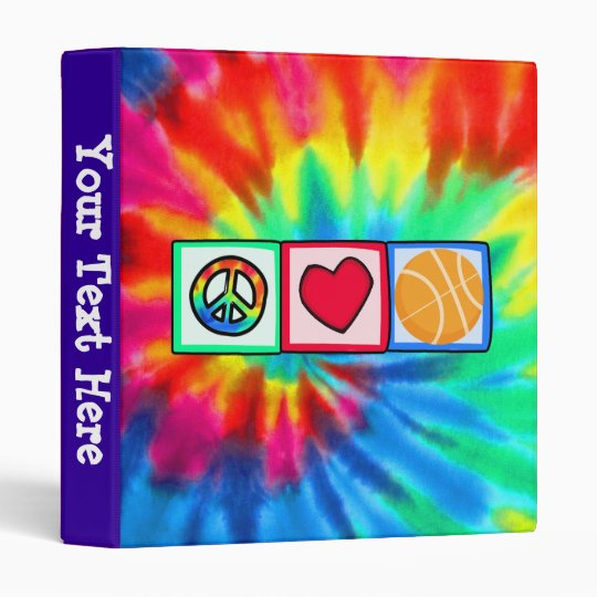 Peace, Love, Basketball Binder
