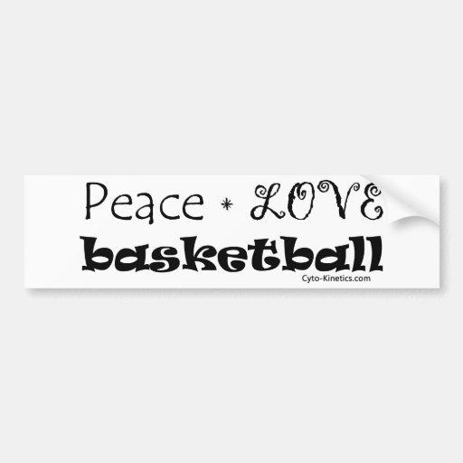 Peace Love Basketball Bumper Stickers