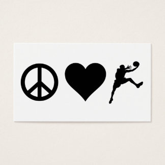 Peace Love Basketball Business Card
