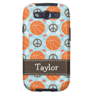 Peace Love Basketball Samsung Galaxy S3 Covers