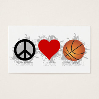 Peace Love Basketball Emblem Business Card