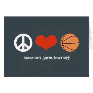 Peace, Love, Basketball Grey Card