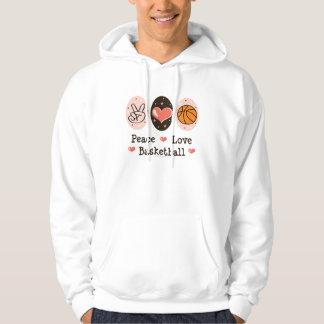 Peace Love Basketball Hooded Sweatshirt