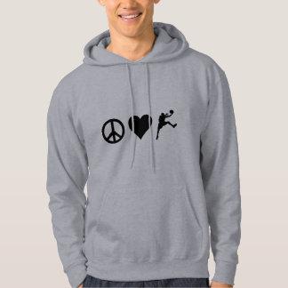 Peace Love Basketball Hoodie