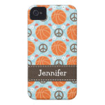 Peace Love Basketball iPhone 4 4s Case-Mate Cover Case-Mate iPhone 4 Case