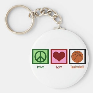 Peace Love Basketball Key Chain