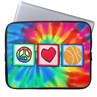 Peace, Love, Basketball Laptop Sleeve