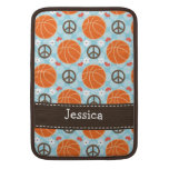 Peace Love Basketball Macbook Air Sleeve 13 And 11 at Zazzle