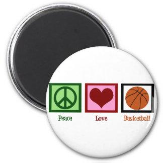 Peace Love Basketball Fridge Magnets