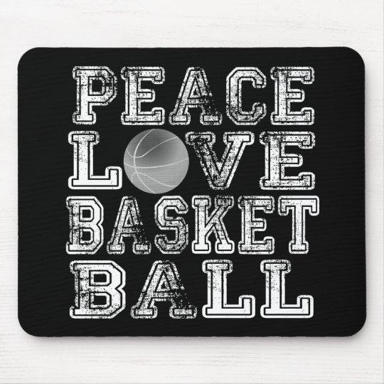 Peace, Love, Basketball Mouse Pad