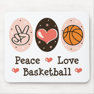 Peace Love Basketball Mousepad
