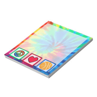 Peace, Love, Basketball Notepad