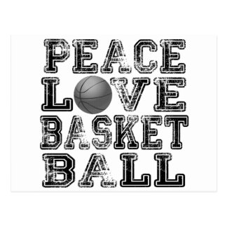 Peace, Love, Basketball Postcard