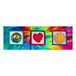 Peace, Love, Basketball Posters