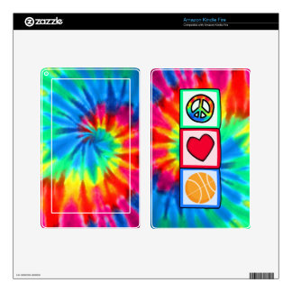 Peace, Love, Basketball Kindle Fire Decals