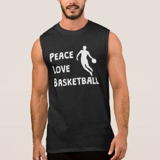 Peace Love Basketball Sleeveless Shirt