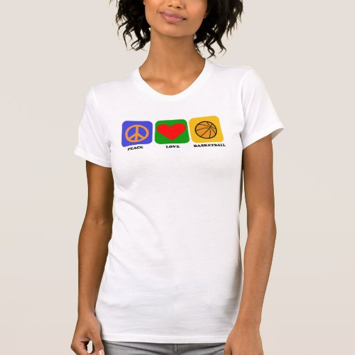 Peace Love Basketball T Shirt