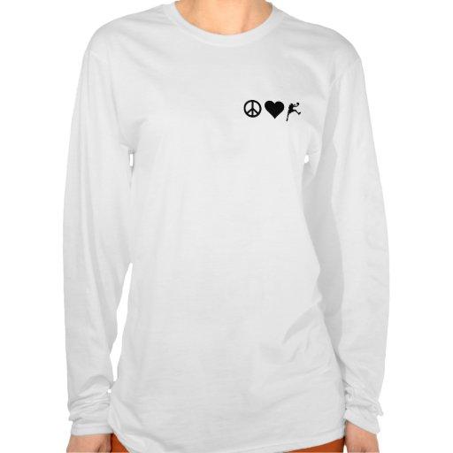 Peace Love Basketball T-shirts