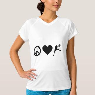 Peace Love Basketball Tee Shirt