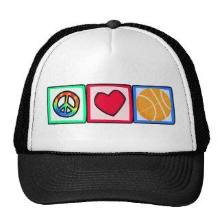 Peace, Love, Basketball Trucker Hat