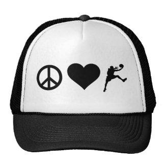 Peace Love Basketball Trucker Hat