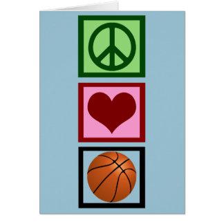 Peace Love Basketball Vertical Card
