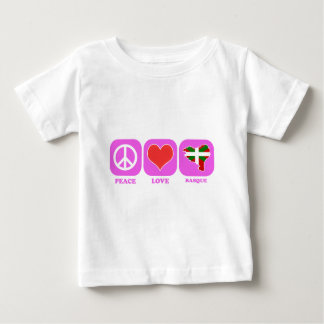 Peace Love Basque Baby T-Shirt