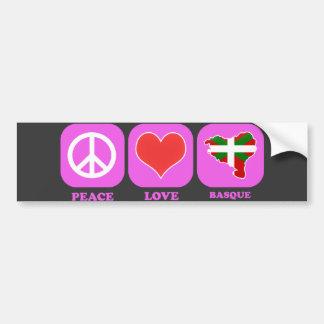 Peace Love Basque Bumper Sticker