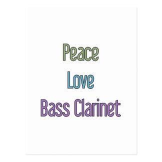 Peace, Love, Bass Clarinet Postcard