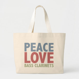 Peace Love Bass Clarinets Large Tote Bag