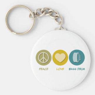 Peace Love Bass Drum Key Chains