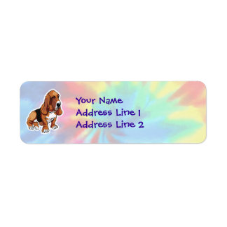 Peace, Love, Basset Hounds Label