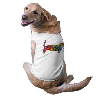 """""""Peace Love & Basset Hounds"""" Pop Art Dog Tee"""