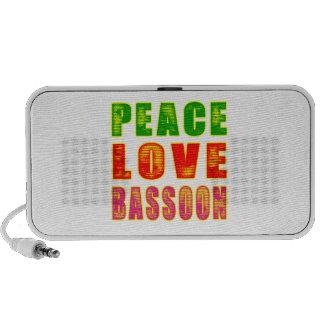 Peace Love Bassoon iPhone Speakers