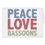 Peace Love Bassoons Greeting Card