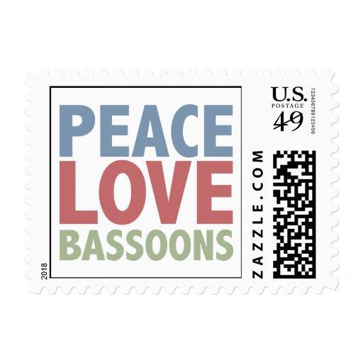 Peace Love Bassoons Postage