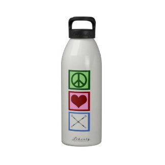 Peace Love Batons Drinking Bottle