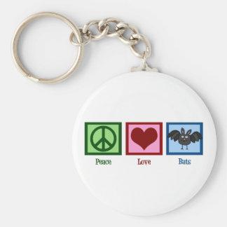Peace Love Bats Keychain