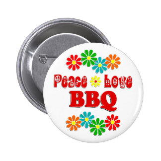 Peace Love BBQ Pinback Buttons