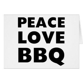 Peace Love BBQ Card